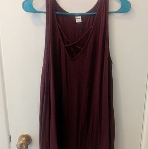 Maroon tank Old Navy